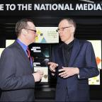 New National Media Museum director David Wilson with outgoing director Colin Philpott at the festival