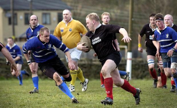 Prop Pete Lowth set Baildon on their way with an early try