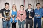 Prize winners at the annual presentation dinner