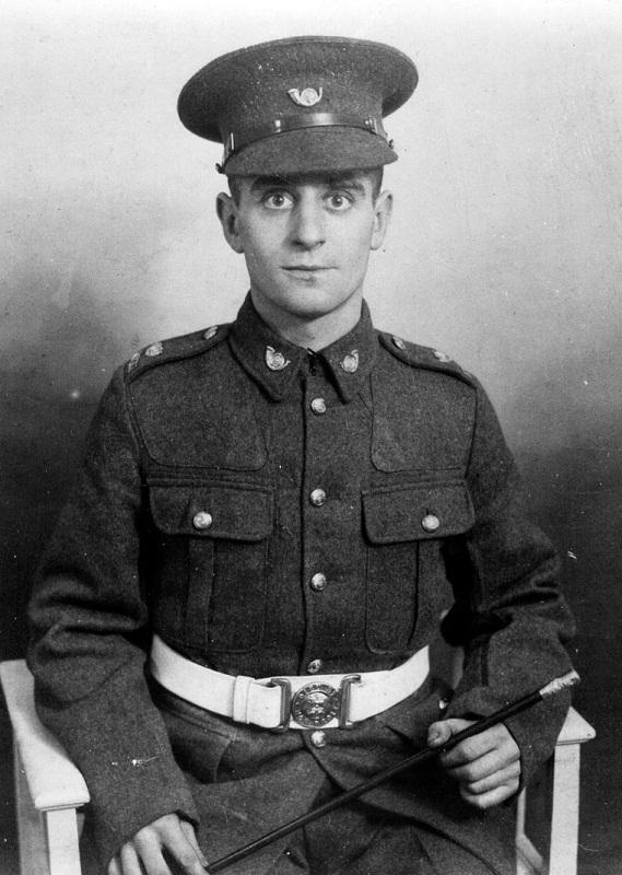Private Billy Redmile in his Army uniform during the Second World War