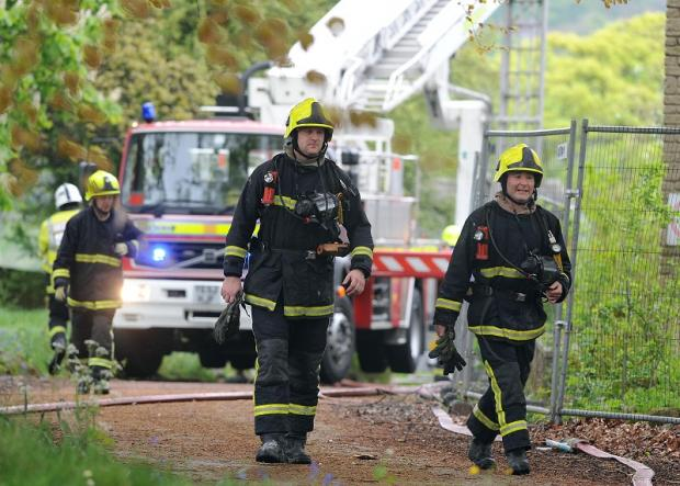 Fire crews from several local stations attended the former Knoll care home in Idle after a fire overnight