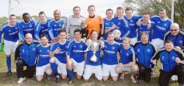 Double winners Buttershaw White Star celebrate their undefeated campaign