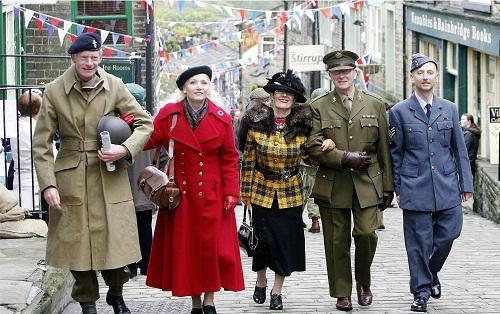 Get into the wartime spirit at Haworth today