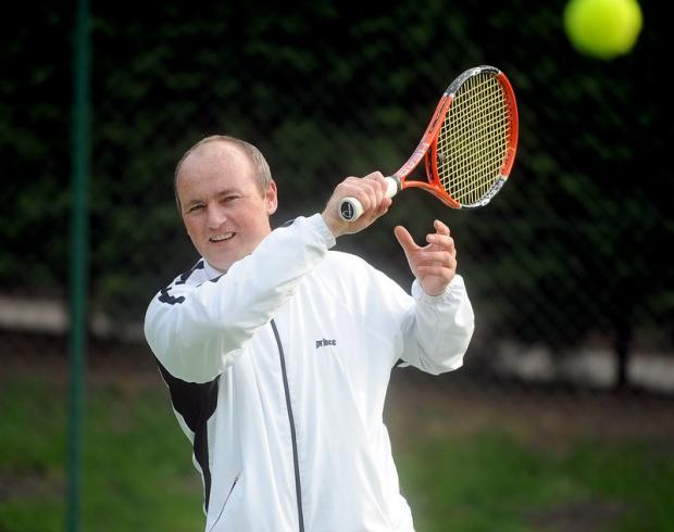 Head coach Richard Senior will be passing on tips and organising games for children at Salts Tennis Club's open day