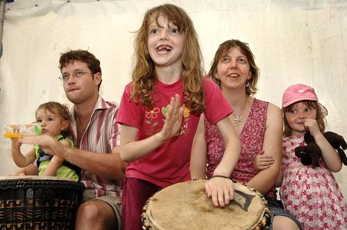 An African drumming workshop during the 2005 Bradford Mela
