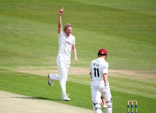 Steve Patterson, seen celebrating the dismissal of Northamptonshire's Steve Peters, is an example of the attitude that Yorkshire coach Jason Gillespie wants