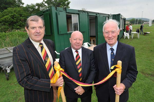 IT'S OFFICIAL: From left, Bradford & Bingley's Richard Smith, Ian Morrall and Peter Whitehead at the formal opening of the club's second pitch