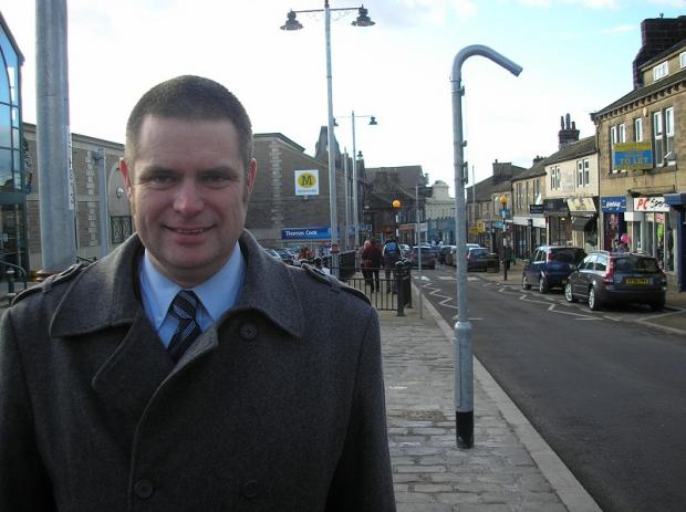 Councillor Ryk Downes on Yeadon's High Street