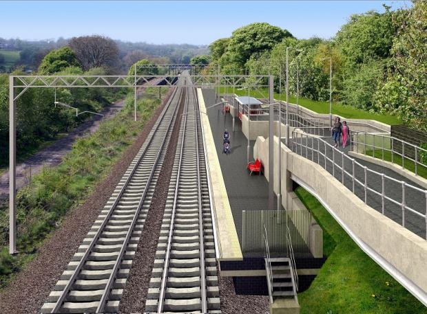 An artist's impression of what the new station at Apperley Bridge
