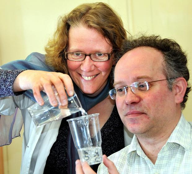 Dr Liz Sharp and Professor Simon Tait of the University of Bradford, who are leading a pioneering project to help water companies focus on climate change