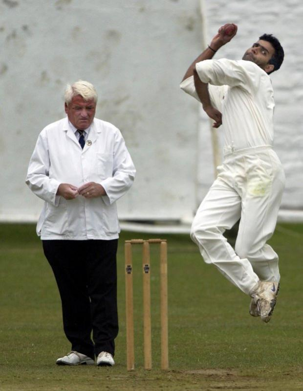 Rai Anjum in action for Spen Victoria in his previous stint in the JCT600 Bradford League