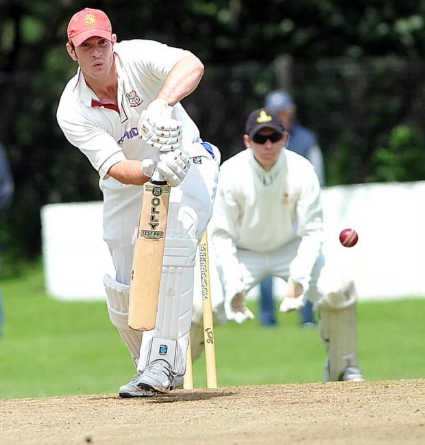 Simon Mason is watchful on his way to an explosive 86 against Yeadon in the Sovereign Health Care Priestley Cup third round