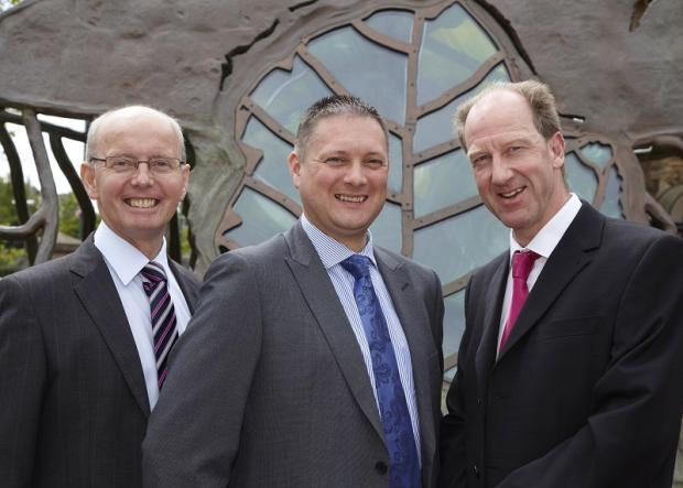 TEAMWORK: From left, John Fiddler, Simon Jackson and Mark Iley
