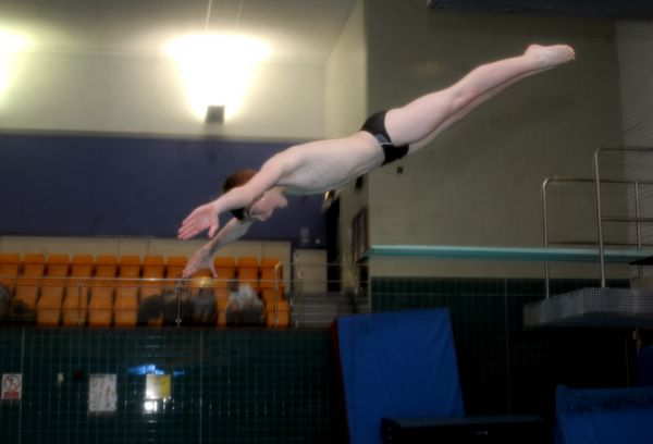 HIGH DIVER: Sam Thornton finished second at the Elite Junior Championships but injury denied him a European place