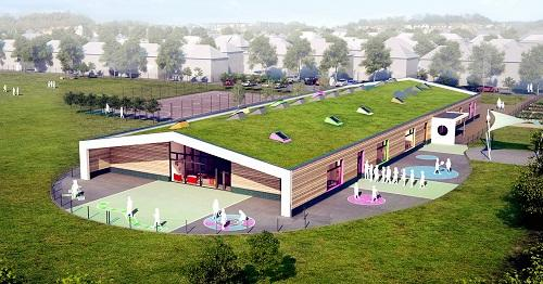 ULTRA-MODERN: An architect's impression of how the first-phase building proposed for the school site could look