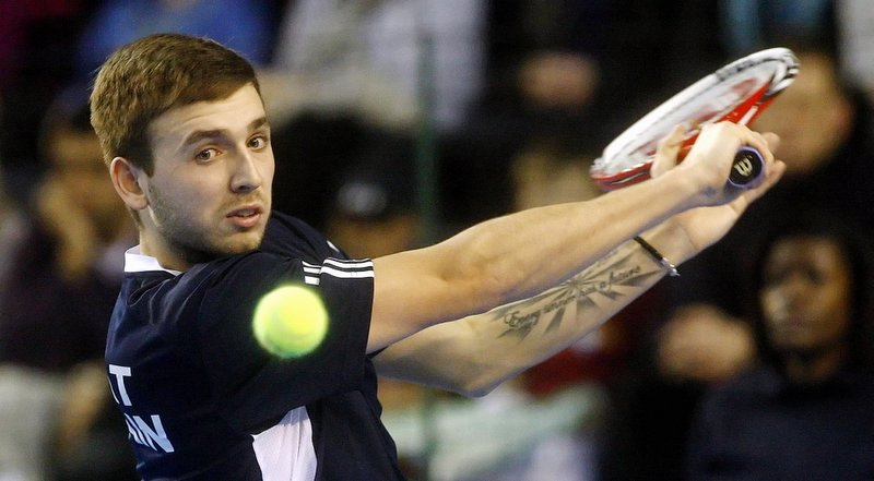 British Davis Cup player Dan Evans lost in the singles and doubles today