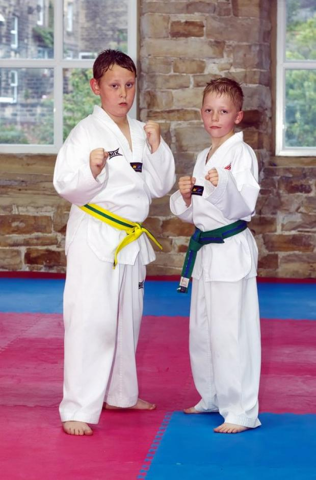 Quest Taekwondo clubmates Jason Mann and Gary Watt