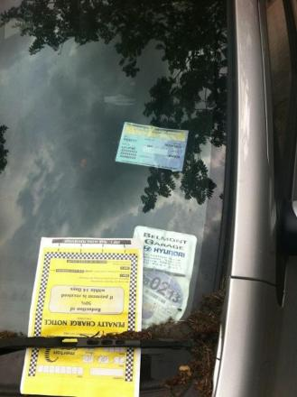 Parking tickets issued in crackdown in Bradford