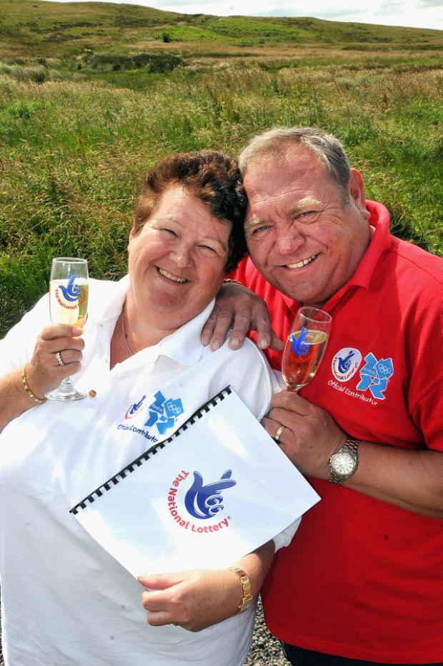 Lottery winners Margaret and David Storey