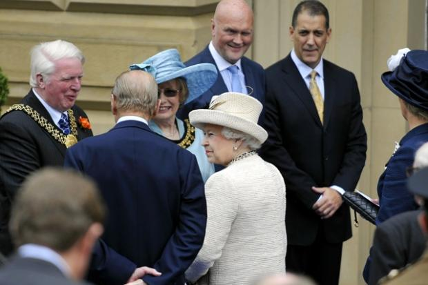 The Queen and Prince Philip in Saltaire