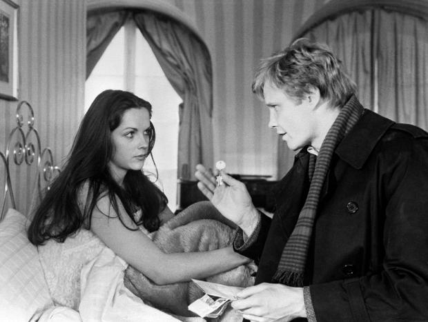 Mary Tamm and Jon Voight in The Odessa File