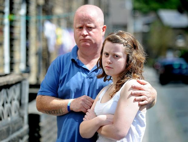 James McGrath and his daughter Lucinda after the attack on their pet dog Ted