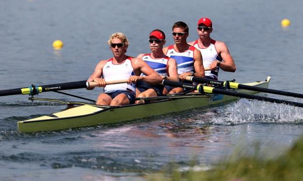Britain's men's four proved a point by winning today's semi-final against arch gold-medal rivals Australia