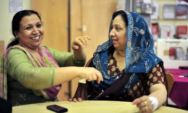 Sabiha Pervaiz (left) and Khalida Naheed, from the Womenzone project, which was given a £49,000 grant