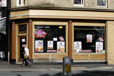 Raja's Pizza Bar in Cavendish Street, Keighley