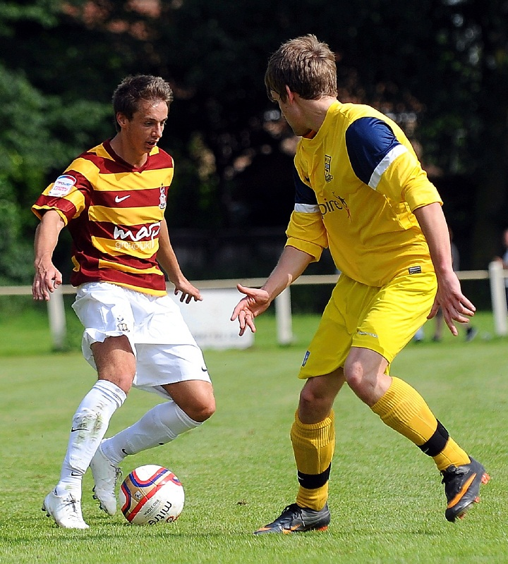 Adam Baker – in action against Tadcaster Albion – has had plenty of game time during pre-season