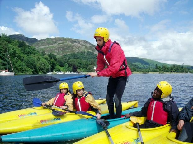 Young volunteers on The Summer Of A Lifetime project take to the water in the Lake District