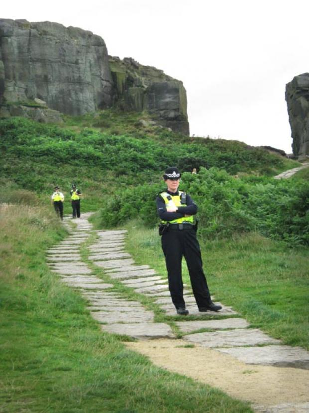 Man injured in 50ft fall from rocks