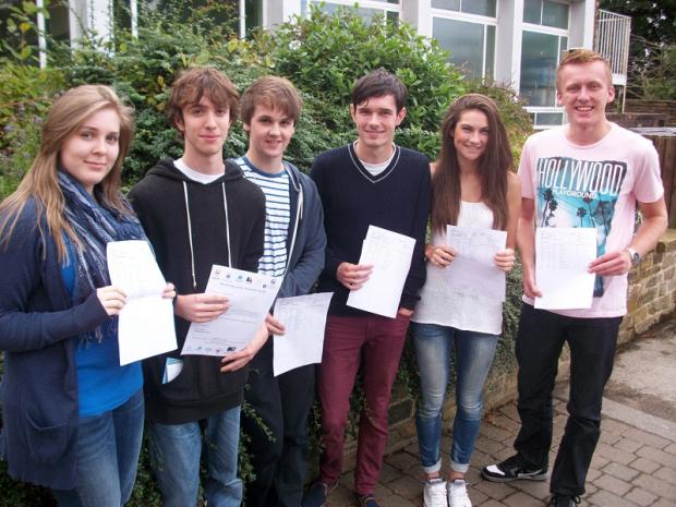 Benton Park (Rawdon) students were celebrating superb A level results. Stand out performances included David Addison's three A*s and an A; Adam Fryer's two A*s and two As; Rebecca Wood's one A* and four As; Mollie Horne one A* and three As