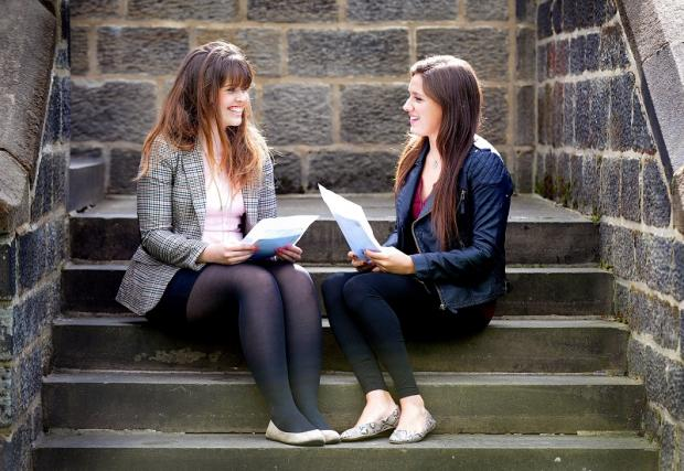 Jess Linton and Sian Morgan take a look at their A-level results at Bradford Grammar School