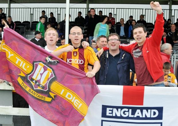 City fans show their colours during the pre-season tour of Ireland