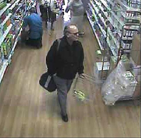 Clement Desmier is seen shopping in Shipley the day before he was found murdered at his home in Greengates, Bradford
