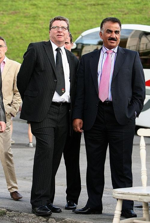 Omar Khan and Gerry Sutcliffe, new owners of Bradford Bulls