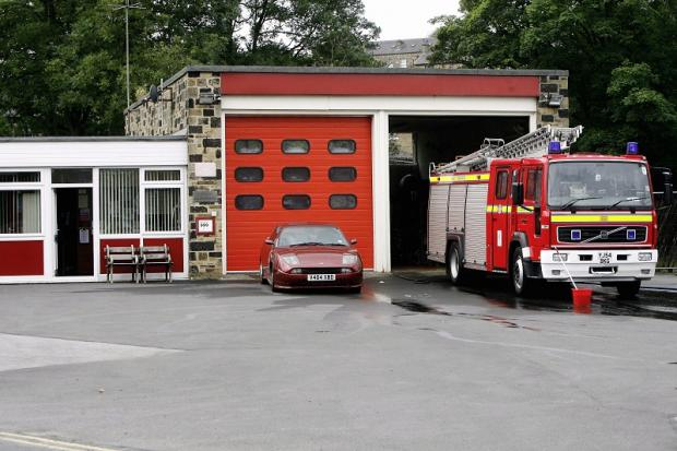 Under threat: Haworth fire station