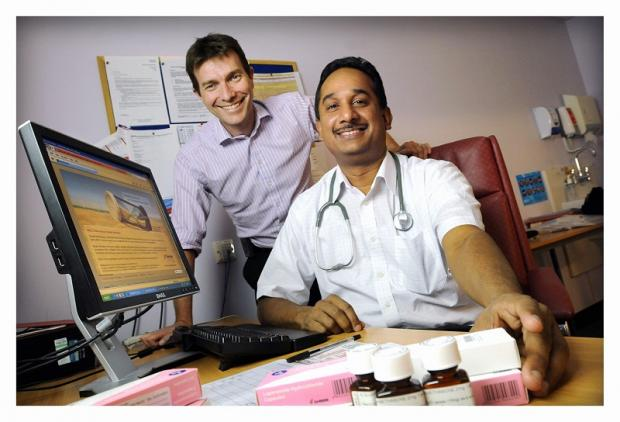 Carl Booth and Dr Ganesan Jeyasangar from Airedale Hospital, who will attend a cancer conference in Vienna