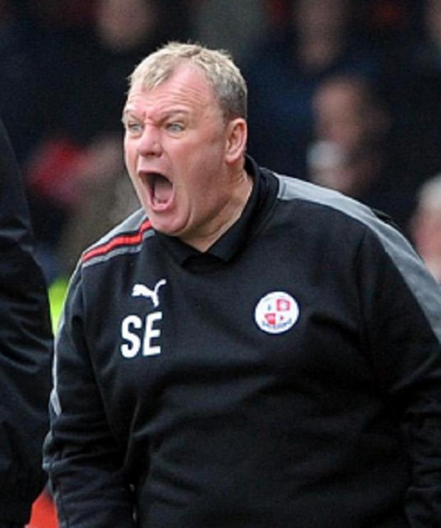 Steve Evans denies a charge of indecent behaviour at Valley Parade last season