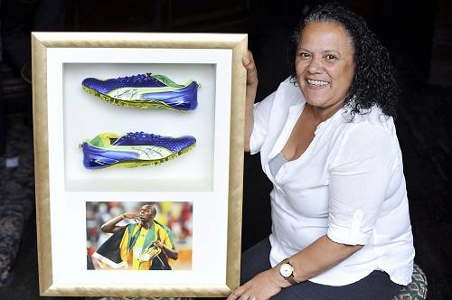 HOT TOPIC: Audrey Coyne hopes to sell off Usain Bolt's running shoes for a good cause