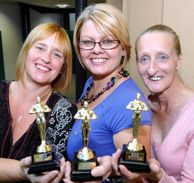 Hospital Oscar winners are from left Carol Metcalfe, Amanda Meehanm Karen Moreland