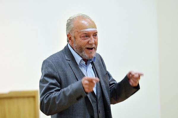 George Galloway speaking at the Muslim Women's Council meeting tonight