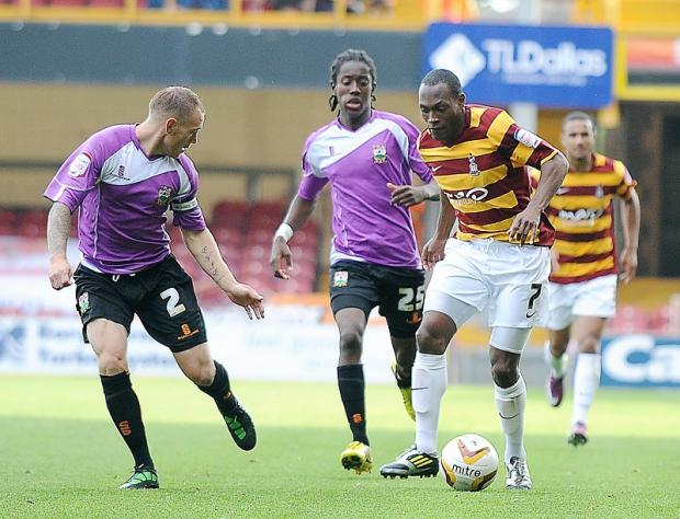 City winger Kyel Reid is likely to be out of action until Christmas