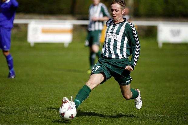 Lee Reilly in action for Steeton