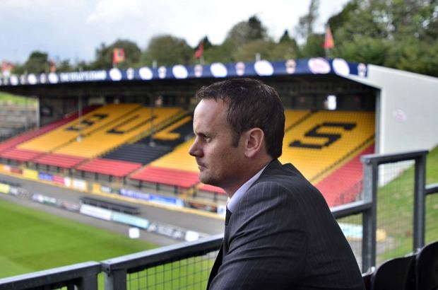 Francis Cummins at Odsal today after being announced as the new Bulls boss