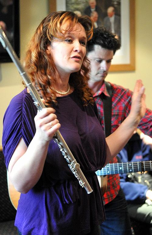 Kathryn Roberts and Sean Lakeman peform at Otley Folk Festival