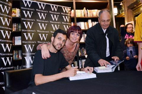 Dynamo with his mother, Nicky, at the book signing