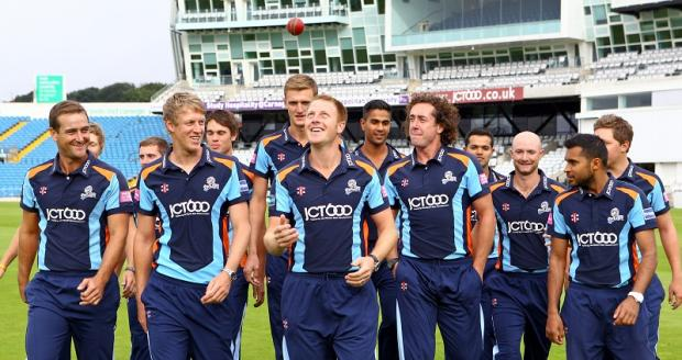 Yorkshire's Twenty20 squad ahead of their mission to try and win the Champions League in South Africa