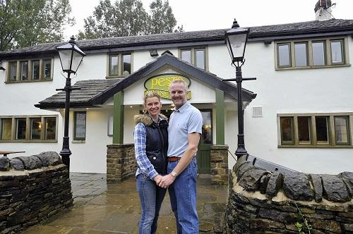 RECIPE FOR SUCCESS: Sara Edwards and Neil Gatt outside the Pesto In A Pub restaurant, formerly the Prune Park Inn